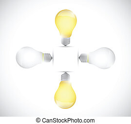 light bulb off and on. illustration design