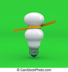 light bulb on a diet