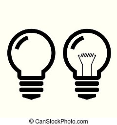 light bulb or glass light bulb on background vector
