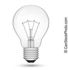 Light Bulb - Realistic light bulb isolated on white. Vector...