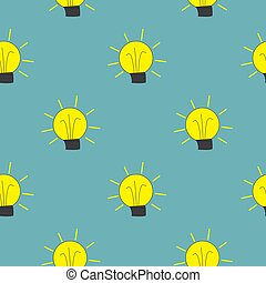 Light Bulb Seamless Pattern Background Vector Illustration