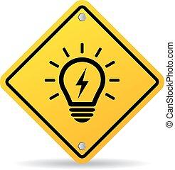 Light bulb sign