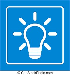 light bulb sign symbol.