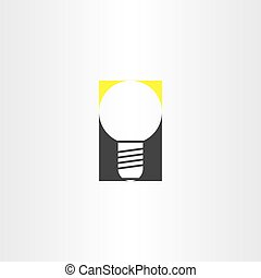 light bulb sign vector idea icon
