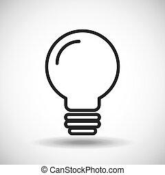 Light bulb. Silhouette icon design. Vector graphic
