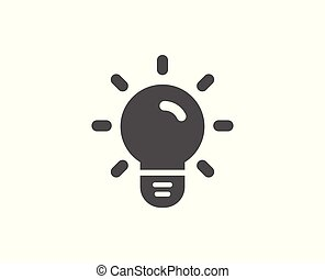 Light Bulb simple icon. Lamp sign.