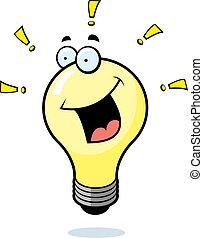 Light Bulb Smiling