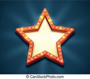 Light Bulb Star Frame