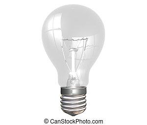 Light bulb - Isolated illustration of an everyday light bulb