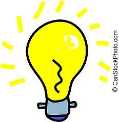 light bulb - household light bulb isolated on white drawn in...