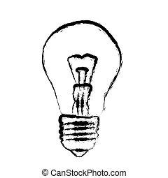 light bulb - grunge light bulb illustration