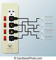 Light Bulb Switch Infographic Design Template