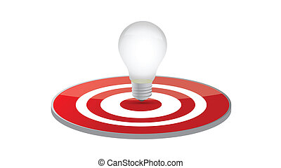 light bulb target illustration design