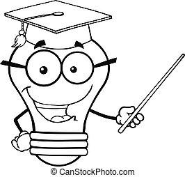 Light Bulb Teacher With A Pointer