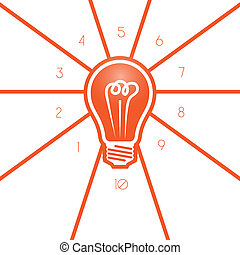 Light bulb template 10 positions for text area, possible to ...