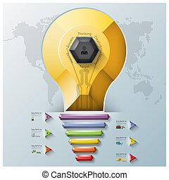 Light Bulb Three Dimension Polygon And Triangle Hexagon...