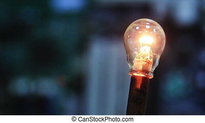 Light bulb turning On And Off