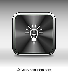 Light bulb vector icon lamp