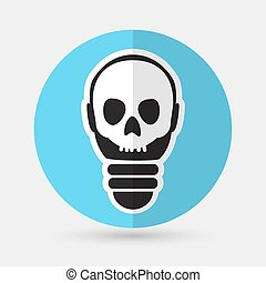Light bulb vector icon on a white background