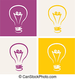 Light bulb vector icon symbol