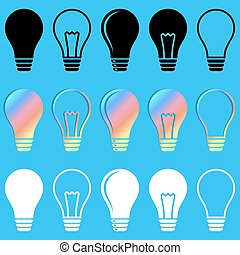 Light bulb vector icons