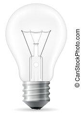 light bulb vector illustration isolated on white background