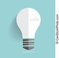 Light bulb. Vector illustration.