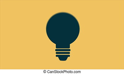Light bulb with gears, Video Animation, HD 1080