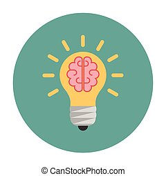 Light bulb with a brain inside