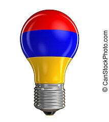Light bulb with Armenian flag