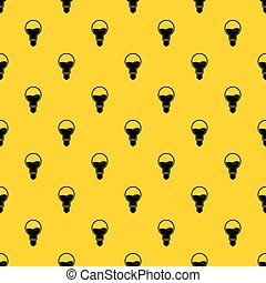Light bulb with blue water inside pattern vector