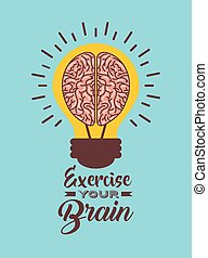 light bulb with brain icon