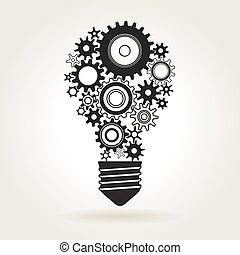 Light bulb with cogs