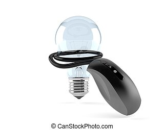 Light bulb with computer mouse