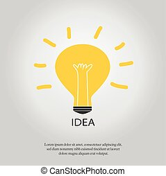Light bulb with concept of idea.