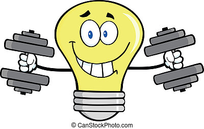 Light Bulb With Dumbbells