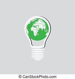 Light Bulb with Earth