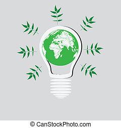 Light Bulb with Earth Globe