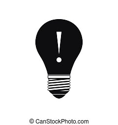 Light bulb with exclamation mark icon