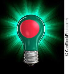Light bulb with Flag of Bangladesh