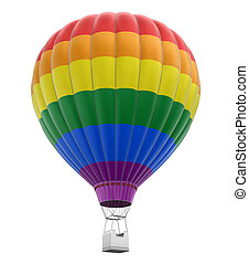 Light bulb with Gay Pride Flag