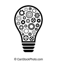Light bulb with gear wheels