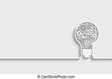 light bulb with gears and cogs working together. Eps10...