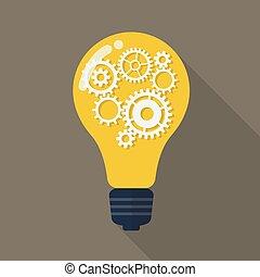 Light Bulb with gears.