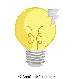 light bulb with lightning