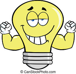 Light Bulb With Muscle Arms
