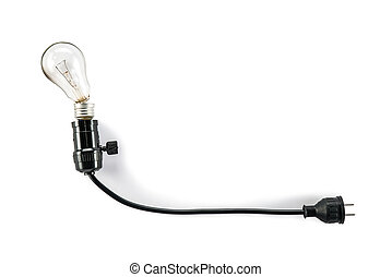 light bulb with plug and Lamp Holder, broken - light bulb ...