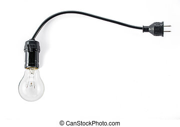 light bulb with plug and Lamp Holder, cable tungsten energy