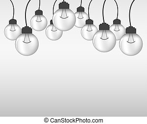 Light bulbs - abstract background.