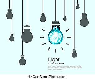 Light Bulbs Background. Industrial Science Idea concept vector illustration